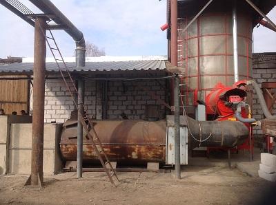 Мобильная зерносушилка на твердом топливе
