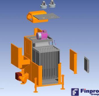 Вертикальный теплообменник мобильной зерносушилки Agrex